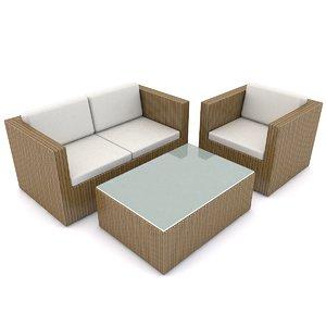 3d patio furniture beliani model