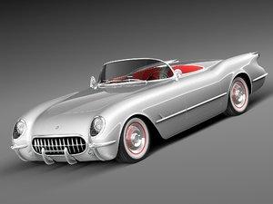 obj chevrolet corvette 1953 musclecar
