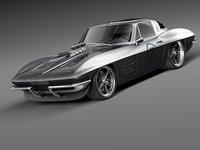 chevrolet corvette c2 sport coupe 3d max