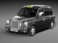 london taxi sedan cab 3ds