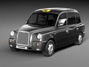 london taxi sedan cab 3ds