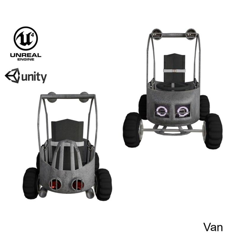 3D model ue4 cartoon race car
