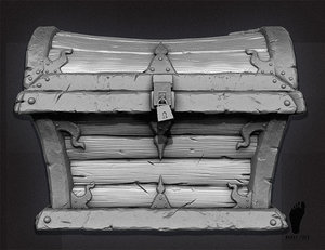 zbrush treasure chest 3d max