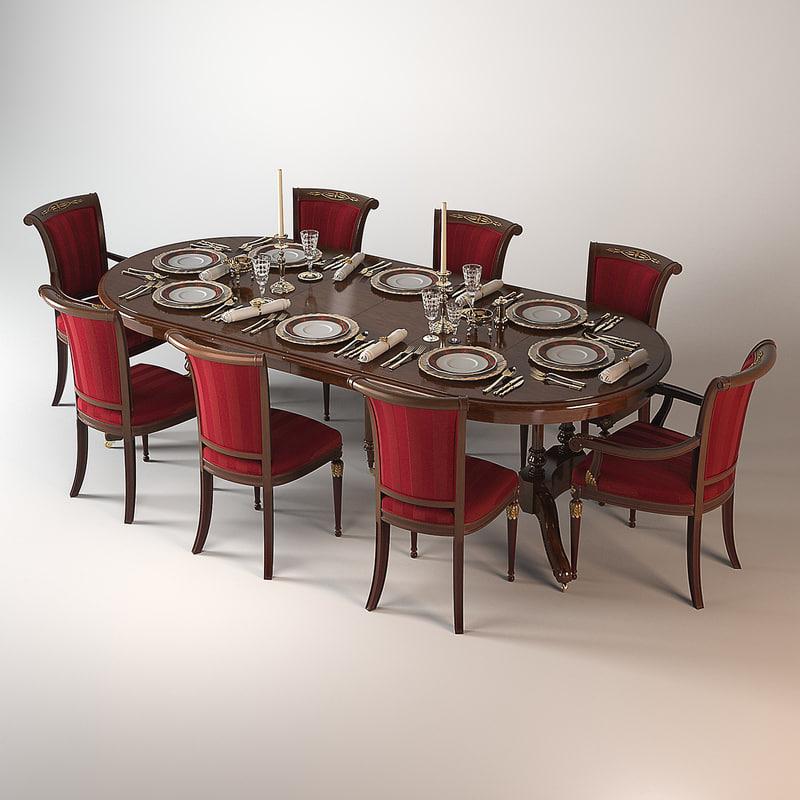 ceppi dining table 3d model