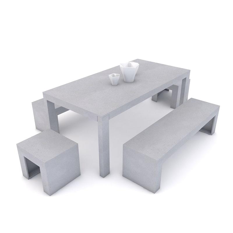 realistic outdoor furniture beliani 3d model