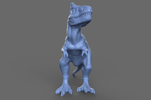 3d model of scan tyrannosaurus rex toy