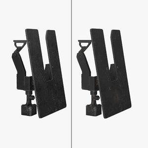3D minigun m134 mount