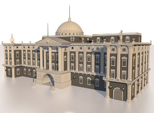 european palace building 3d model