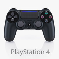 sony playstation 4 controller 3d model