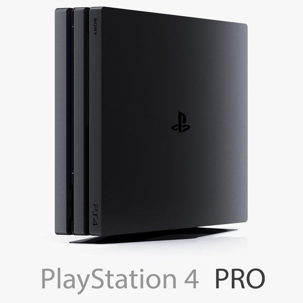 3d sony playstation 4 pro