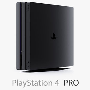 3d sony playstation 4 pro