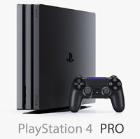 Sony PlayStation 4 Pro and DualShock Controller + Two Cameras