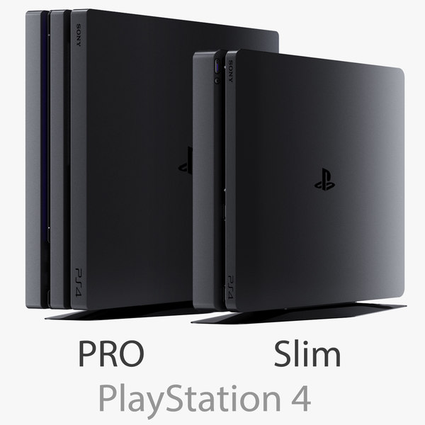 3d sony playstation 4 pro model