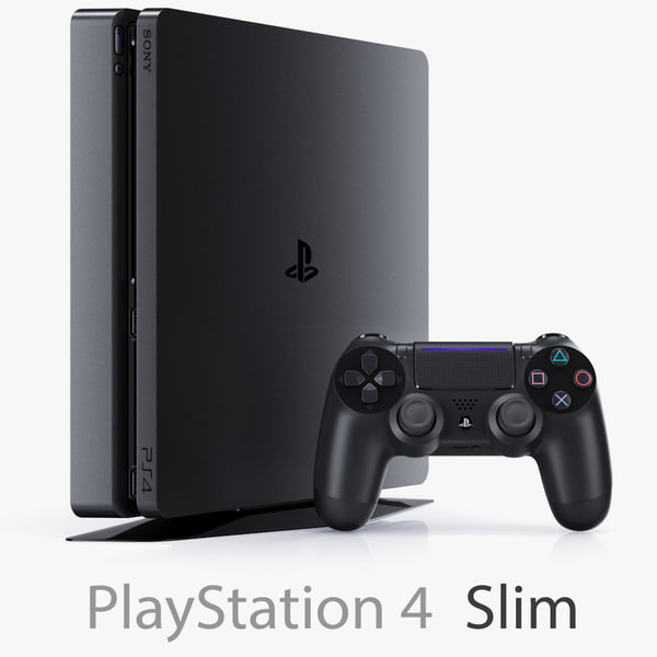 3d sony playstation 4 slim model
