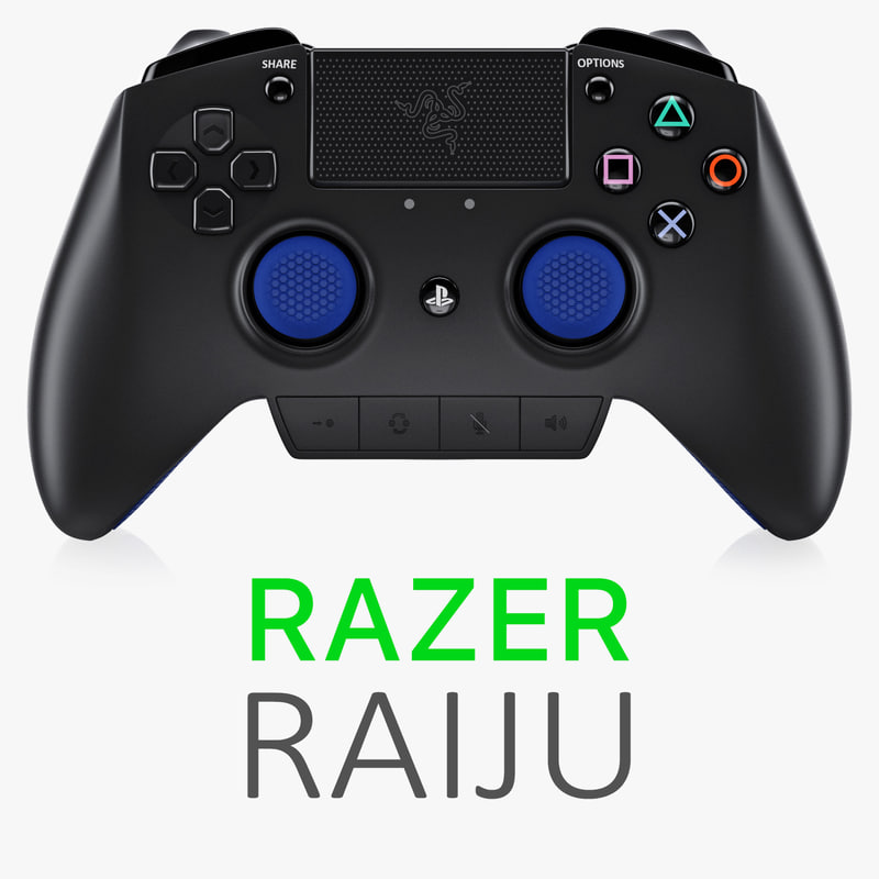razer raiju controller 3d model