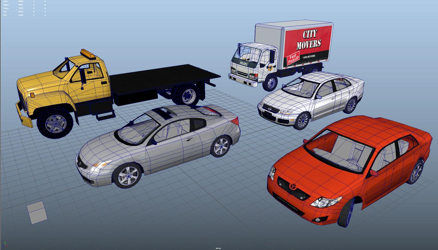 cars truck isuzu 3d model