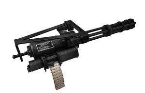 minigun gun 3d model