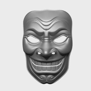 3d model asian mask