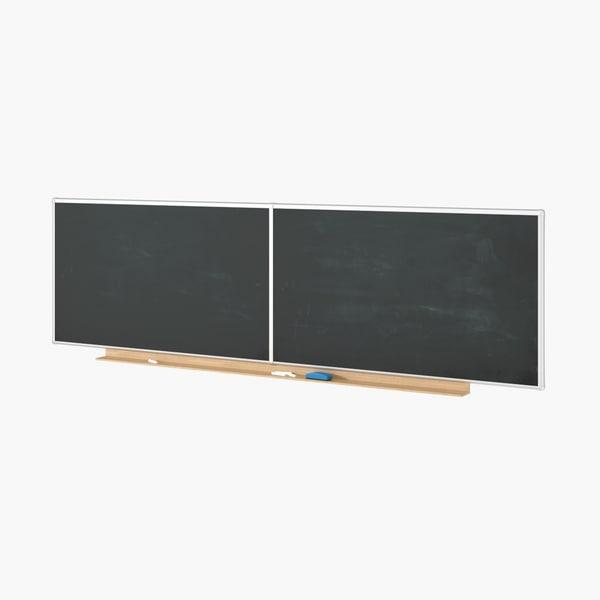 3D model chalkboard chalk board