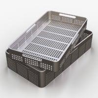 medical tool tray 3d obj
