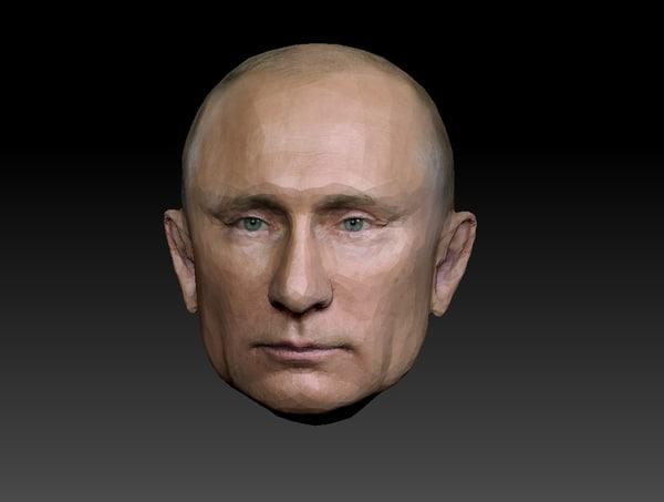 head putin 3D model