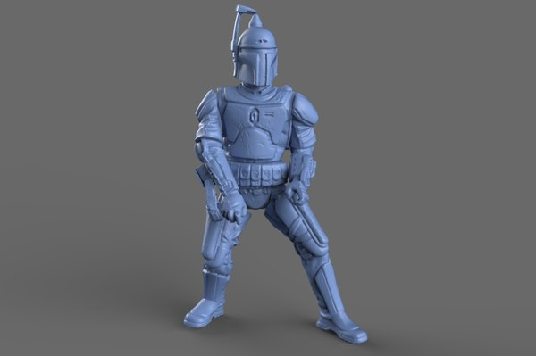 3d jango fett action figure model