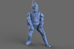 3d jango fett action figure model