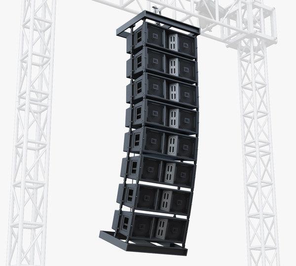 stage speaker jbl 3d model