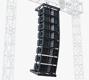stage speaker jbl 3d model