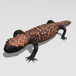 3d lizard gila monster