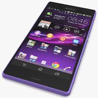 3d sony xperia z3 violet