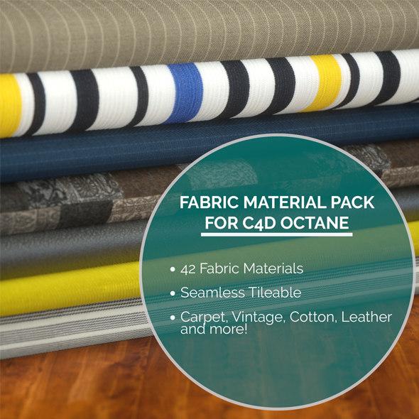 42 Fabric Materials for C4D Octane