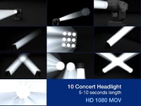 10 3d Concert Headlight - Video