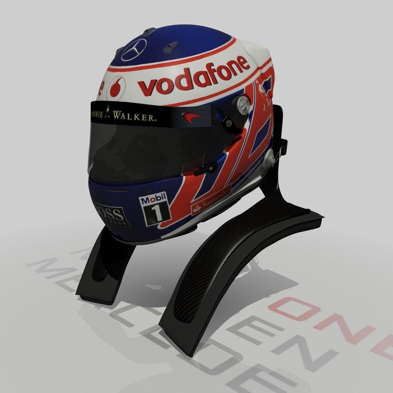 3d jenson button 2013 f1 helmet