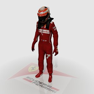 3d formula driver kimi raikkonen