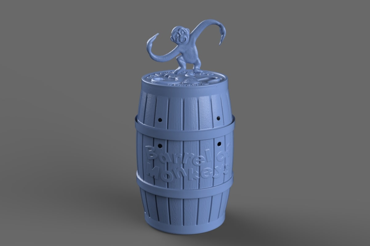 3d scan barrel monkeys model