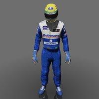 3d formula driver ayrton senna model