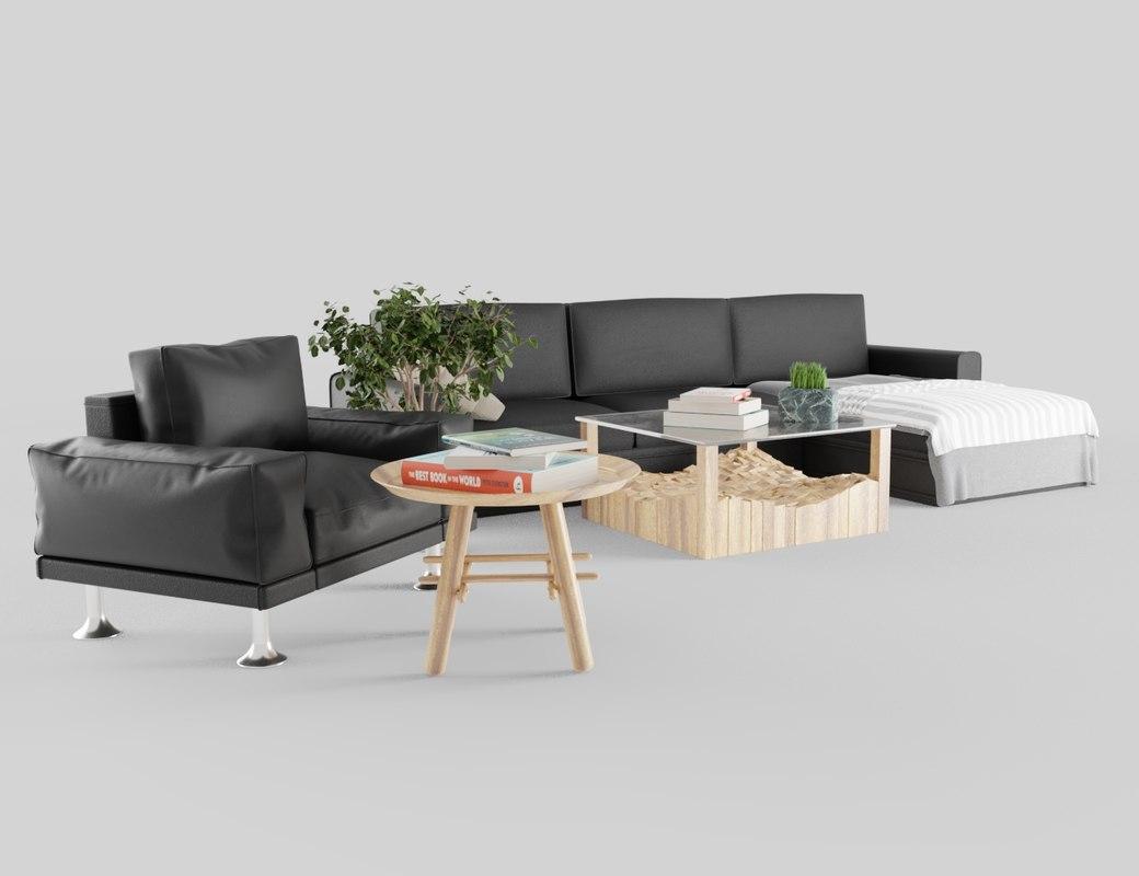 livingroom furniture 3D