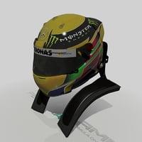 Lewis Hamilton 2013 Helmet