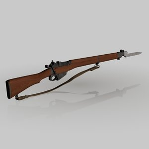 3d model lee enfield 4 rifle
