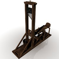 3d guillotine capital punishment model