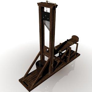 3d guillotine capital punishment model