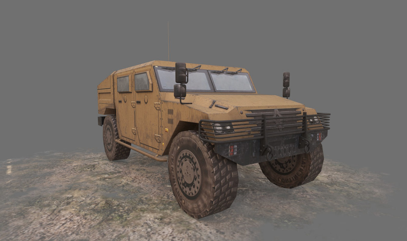 3d renault sherpa military vehicle
