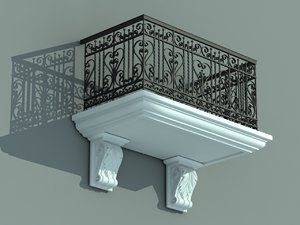 architectural balcony 3ds