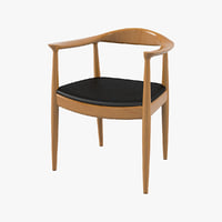 chair hans wegner 3d model