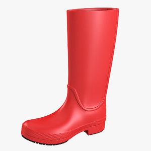 3ds crocs rain boot