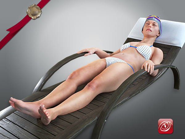 female swwimmingpool acc 2130 3D model