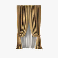 fabric curtain 3d max