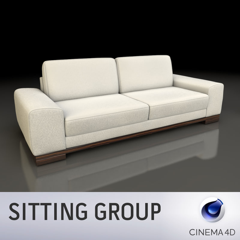 3d sofa seat furniture