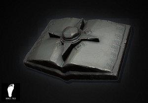 3d model of aztec book magic